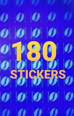 McDonald's 180 HOT DRINKS LOYALTY STICKERS Ultraviolet VALID UNTIL 31.12.2020