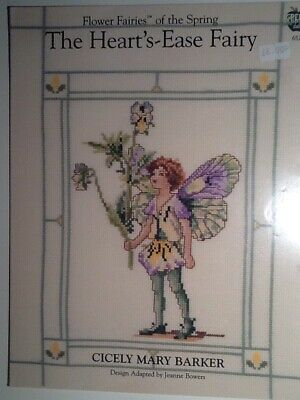 Flower Fairies of The Spring Large Cross Stitch Chart The Heart/'s Ease Fairy 652