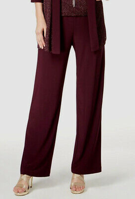 New $219 R&M Richards Womens Red Pull-ON Straight-Leg Formal Dress Pants Size 14