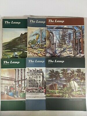 The Lamp Standard Oil Company Magazine Lot Of 6 1947-1948 T27-3