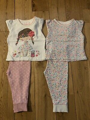 * Mothercare Baby Girls Pink Floral Pyjamas 12-18 Month *