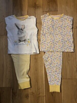 * Mothercare Baby Girls Yellow Floral Bunny Pyjamas 12-18 Month *