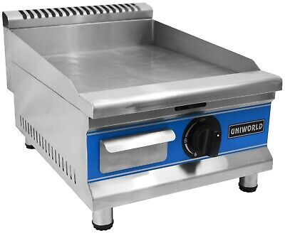 "Countertop Gas Griddle 16"" Natural Gas Flat Top Grill, Manual Control, 14000 BTU"