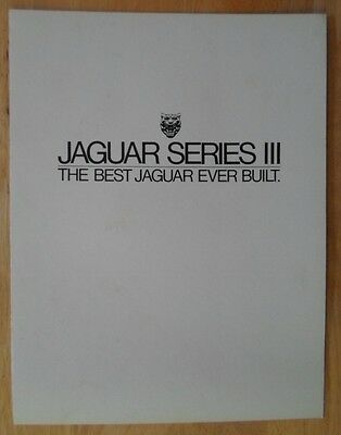 JAGUAR XJ SERIES III orig 1980 USA Mkt Sales Brochure - XJ6 4.2 3 S3