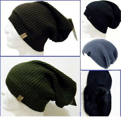 Men Beanie Long Knit Slouch Ski Long Hat Winter Warm High Quality Skull Stretch