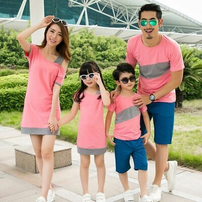 Mother And Daughter Dress Family Matching Clothes Couple T-shirt  Father Baby