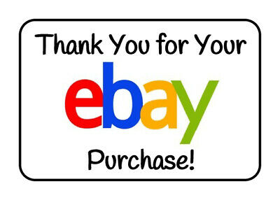 100 Rectangular Ebay Seller GLOSSY Thank You for Your Purchase Stickers