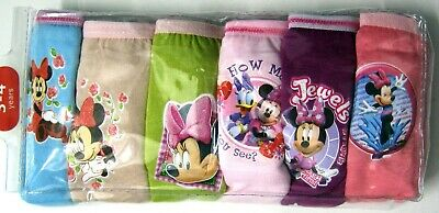 BNIP undies Minnie knickers 6 pack girls Briefs underwear panties cotton