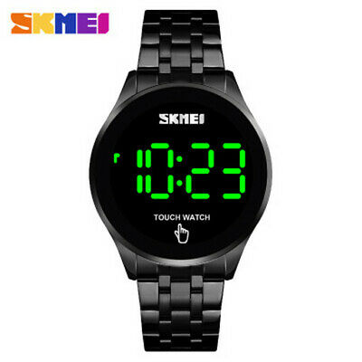 Men's High-end  Simple Touch Screen Electronic Watch LED Stainless Steel Strap