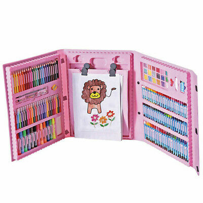 176pcs Kids Art Set Crayons Drawing Paints Watercolor Pens Pencils Xmas Gift