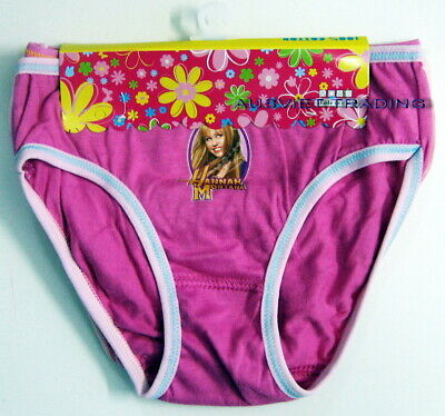 New Miley Cyrus Hannah Montana girls Briefs panties undies 100% Cotton pack of 3
