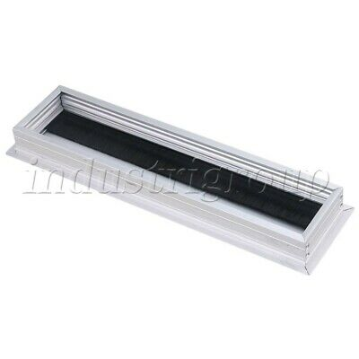 Alloy Silver Wire Cable Grommet Hole Cover for TV Cabinet Desk Furniture