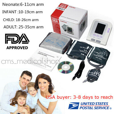 CONTEC Fully Automatic Upper Arm Digital Blood Pressure monitor 4 Cuffs Software