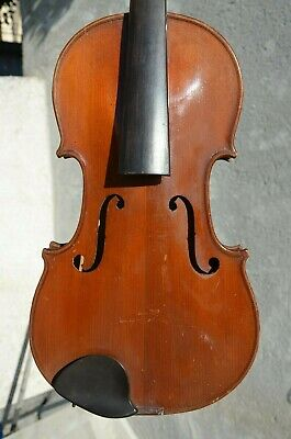 Old French violin stamped JTL - PARIS 1900's with iron stamp