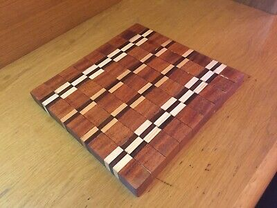 Cutting Board End Grain, Wooden, Handmade, Chopping Board, Kitchen