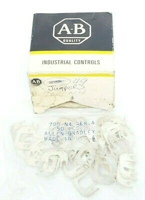 Lot Of 49 New Allen Bradley 700-N4 Jumpers 700N4 Ser. A