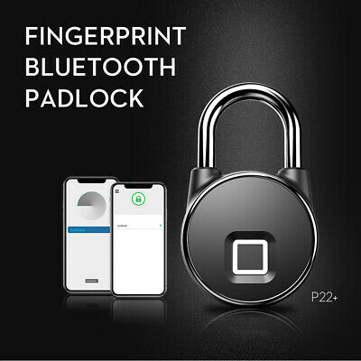 Intelligent padlock remote control electronic  Bluetooth APP fingerprint padlock