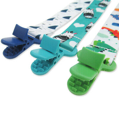 3Pcs Baby Anti-lost Pacifier Chains Clip Holder Dummy Soother Nipple Strap Chain