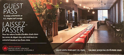 1 Air Canada Maple Leaf Lounge Pass