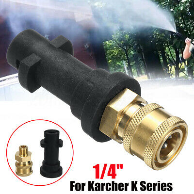 Pressure Washer Gun Adapter 1/4'' Quick Connect Fitting For S10 Karcher K Series