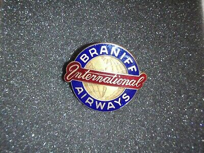 Old Braniff International Airways Uniform Hat Badge