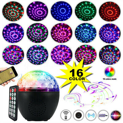 16 Colors LED Remote RC Stage Effect Light RGB Disco Party DJ Pub Crystal Lamp