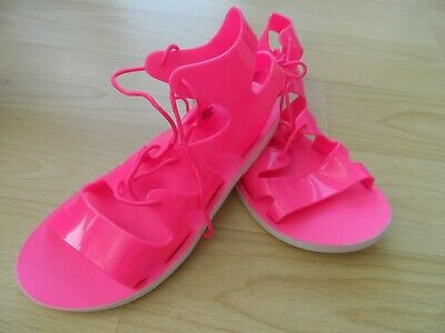 Pink soft comfy jelly gladiator style sandals girls new from Next size 2