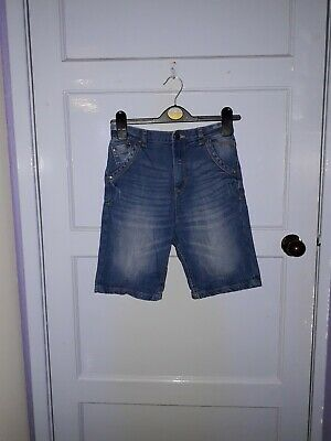 Boys George Denim Shorts Adjustable  Elasticated Waist Blue Colour Age 9-10 Yrs