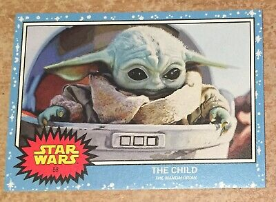 Topps Star Wars Living Set The Child new limited edition baby yoda ! no 58 card
