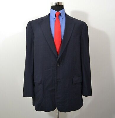 Oliver 43L Sport Coat Blazer Suit Jacket Navy Wool