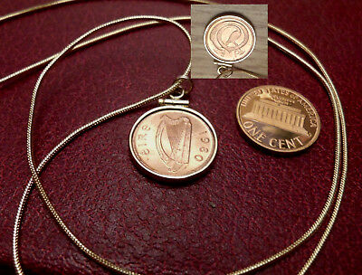 "1980 Lovely Little Irish Brilliant Half Penny 12KTGFw/ 18k 24"" Gold Filled Chain"