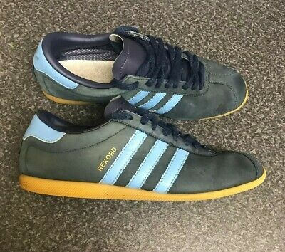 Rare Vintage Adidas REKORD UK 8 / 42 NAVY GUM Argentina Suede 80s Style Leather