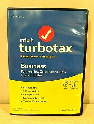 INTUIT Turbotax Business 2019 Tax Year for Windows Federal returns e-file Sealed