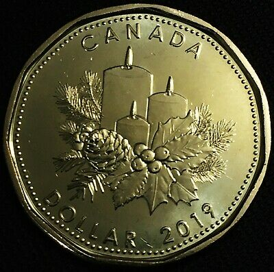 Special Loonie - Canada Mint Set 2019 Holiday 1 Dollar Coin, UNC