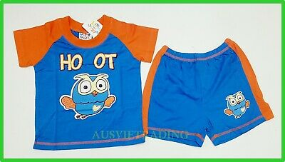 Giggle and Hoot boys girls Pyjamas kids tshirt top shorts pajamas sleepwear
