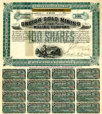 1900 Oneida Gold Mining & Milling Stock Certificate