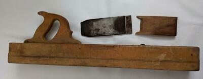 Vintage Wooden Block Hand Plane with Marked but unidentified blade 60cm