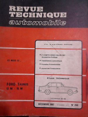 FORD Taunus 12M 15M (PEUGEOT 404)- Revue Technique Automobile