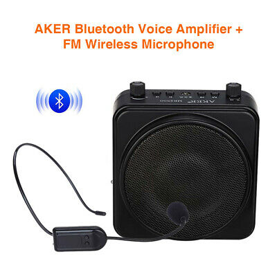 Wireless Bluetooth PA Voice Amplifier Megaphone Booster with Wireless Microphone