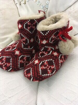 New Marks & Spencer Girls Slippers Boots Size 11