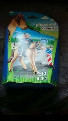 2 X Playmobil 9260 Mounted Police Officer Riding Horse country SAFETY Signes