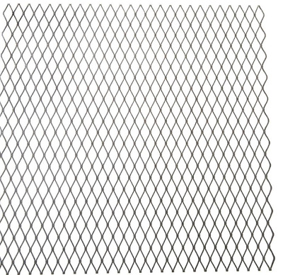 Expanded Metal Stock Sheet 24 X 12 in. Durable Steel Weldable Plain Mesh Sheet