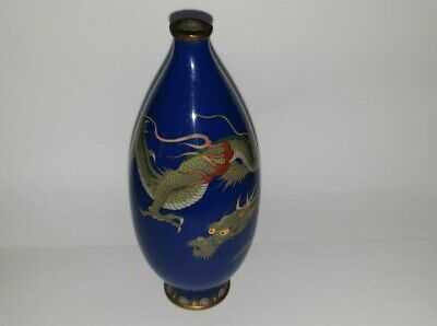 Superb Meiji Period Japanese Cloisonne Dragon Vase