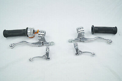 Puch Ranger Racing Tuning Griff Set Brems Gas Dekompressor Mini Targa Chrome NEU