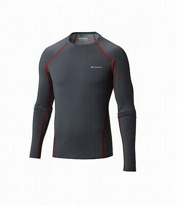 NEW COLUMBIA MEN'S MIDWEIGHT STRETCH LONG SLEEVE BASELAYER SHIRT BLA