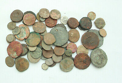 Lot of 60+ Greek & Roman Byzantine  AE coins   D=7 -27mm