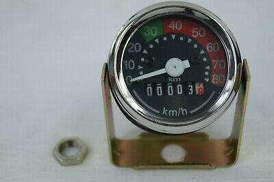 Puch DS MS MV  Mofa Moped Tachometer Tacho 48mm 80KmH NEU
