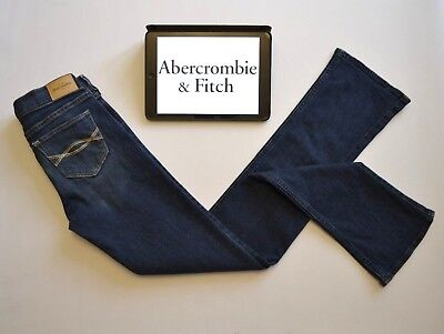 Abercrombie & Fitch Girls Jeans Age 16 S - The A&F Boot Navy Blue W26 L32 Slim