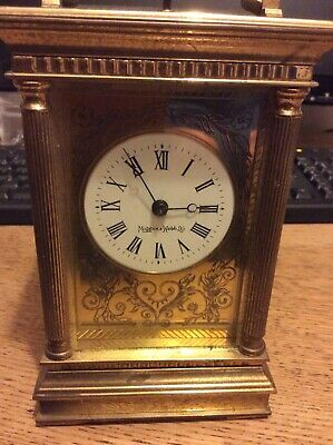Mappin and Webb Brass Carriage Clock