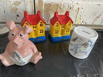 JOB LOT OF 4 Money Box VINTAGE Wade Halifax